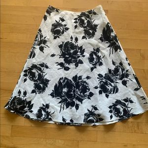 Talbots A-line floral skirt size 2 Petite